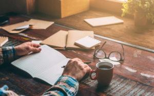 Header - Man Writing